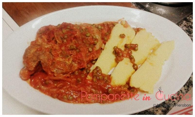 Ossobuco con pomodoro e piselli for Cucinare ossobuco