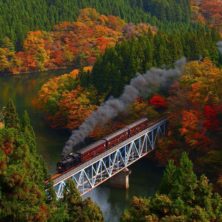 Tadami-Line, Fukushima, Japan