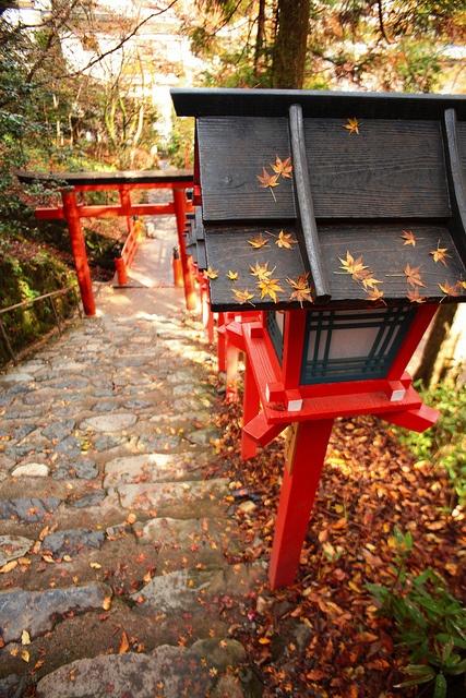Kibune Shrine in Kyoto, Japan